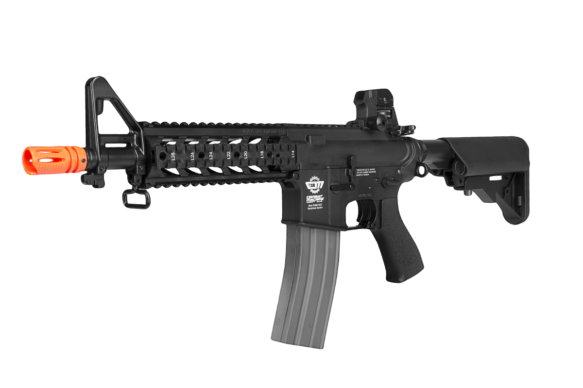 Rotated view of the G&G Combat Machine 16 Raider M$ airsoft gun